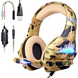 Gaming Headset for PS4, Xbox One, PC, Nintendo Switch, Laptop Cellphone -Stereo...