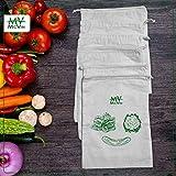 McVin Wiederverwendbare Beutel aus 100 % Baumwolle, 6 Stück