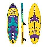 KOHALA Tavola da Paddle Surf Windsup Colore Giallo - Tipo Allround/Windsurf - Capacità massima 140 kg - Pinne 1 Normale + 1 Sistema USBOX