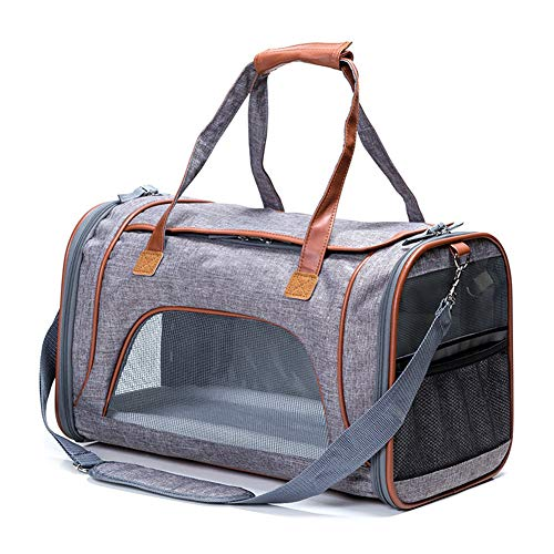 GPFDM Airline Approved Soft-Sided Under Seat Pet Carrier - Best for Small Dogs Cats Foldable - TSA Pets Carrier Bag - in-Cabin Mesh Air Travel Carriers,A