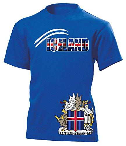 Island Iceland Fanshirt Fussball Fußball Trikot Look Jersey Kinder Kids Unisex t Shirt Tshirt t-Shirt Fan Fanartikel Outfit Bekleidung Oberteil Hemd Artikel