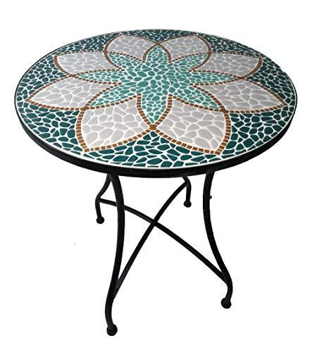 Primaster Mosaik Rundtisch Ø 60 cm Gartentisch Balkontisch Mosaiktisch