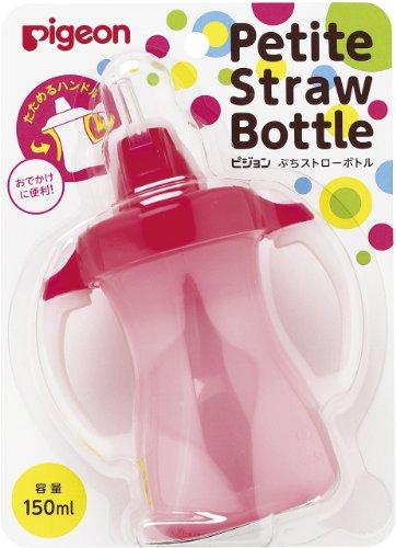 Pigeon Petit Straw Bottle Milkey Strawberry 150mL by Erwinshy