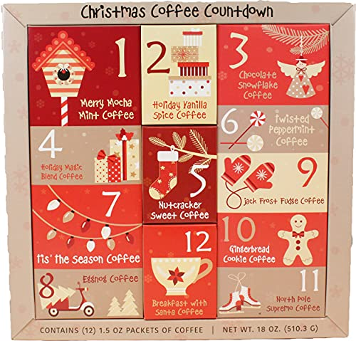 magic spoon flavors Christmas Sampler Gift 12 Days of Coffees Christmas Gourmet Gift Box Set Flavored Coffee- Best Xmas Present For Friends, Family, Corporate, Coworkers, or Teachers (Coffee)