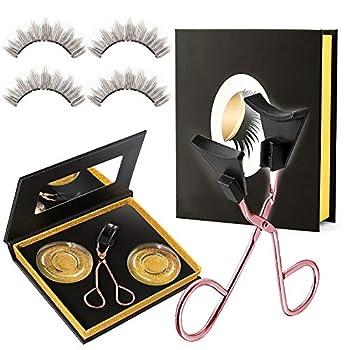 Magnetic Eyelashes Kit Glue-free Magnetic Eyelash Clip & Eyelashes Set with Soft Magnetic False Eyelashes Natural Looking