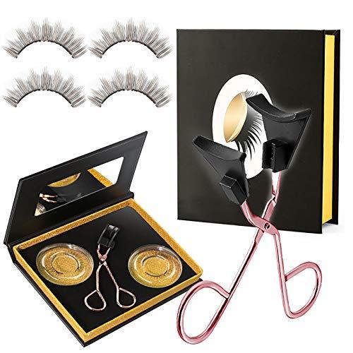 Magnetic Eyelashes Kit, Glue-free Magnetic Eyelash Clip & Eyelashes Set with Soft Magnetic False Eyelashes, Natural Looking