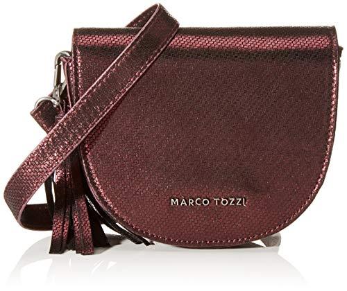 MARCO TOZZI Damen 2-2-61002-23 Umhängetasche, Rot (Bordeaux M.STR), 5x14x16.5 cm