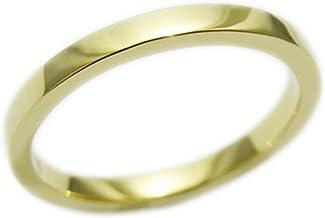 18金 リング レディース メンズ 2mm幅 1.5mm厚 K18 指輪 シンプル 国産 受注生産 オーダー YG PG WG (ホワイトゴールド, 15)