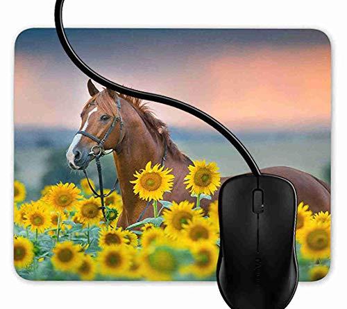 Mauspad Rotkastanien-Hengst Rutschfeste Gummi Basis Mouse pad, Gaming mauspad für Laptop, Computer 1F2892