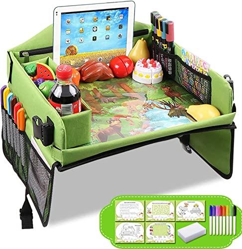 NC Paleta de viaje para niños, bandeja de asiento de coche, tablero de dibujo para niños, plataforma plegable multifuncional