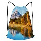 Unisex Yoga Cinch Sack Drawstring Bags autumn grand teton npusa Waterproof Backpack Sports Gym Bag Casual Daypack