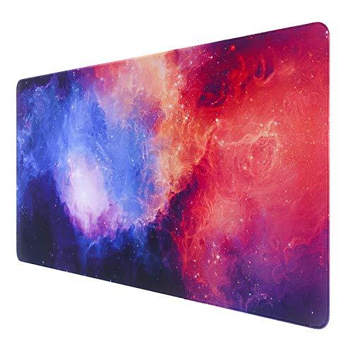 GDBT Large Gaming Mouse pad with Stitch Edges,Extended Mouse mat,Non-Slip Rubber Base,Waterproof Keyboard Pad,Desk Pad for Premium-Textured,3mm Thick Home Office Desk mat for Gamer,800x400,Fasion