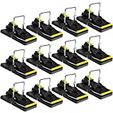Mouse Trap 12 Pack Mice Trap That Works Small Mouse Snap Trap Power Mouse Killer Mouse Catcher Quick Effective Sanitary Safe for Families and Pet