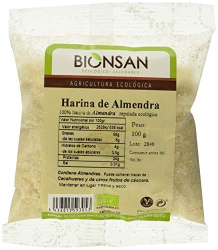 Bionsan Harina de Almendra Ecológica - 3 bolsas de 100 gr - Total: 300 gr