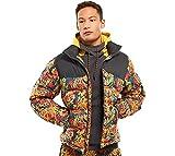 The North Face Men Nuptse Jacket 1992 Retro Leopard Yellow Genesis Print Small