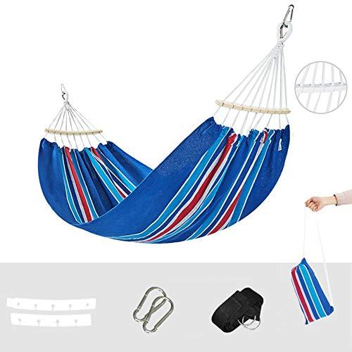 WJY Travel Hamaca de Camping, Antivuelco Hamaca de Lona al Aire Libre para Acampar Columpio de Silla de Jardín para Exterior, Interior, Hamaca de Jardín, 200 * 150 cm (Color : A)