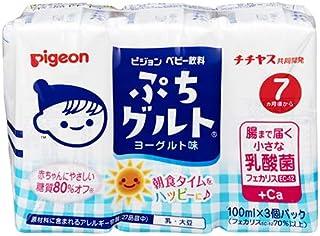 ピジョン ぷちグルト ヨーグルト味 乳酸菌配合 100ml×3個パック×4個