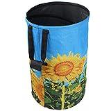 FLORA GUARD 32 Gallon Garden Bag - Reusable Pop-up Gardening Bag, Sun Flower Print Collaps...