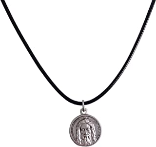 The Holy Face Shroud of Jesus Christ Medal with String Cord - Real Italian Masterpiece