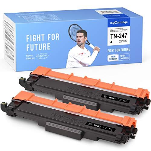 MyCartridge Tóner compatible con Brother TN-247 TN247 para impresoras Brother MFC-L3750CDW MFC-L3710CW MFC-3730CDN MFC-L3770CDW DCP-L3550CDW HL-L3210CW HL-L3230DW HL-L3270DW (2 unidades), color negro