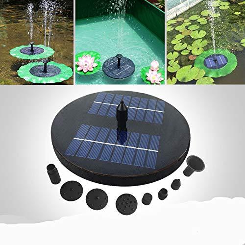 SZMYLED Brunnen - Springbrunnen,Garten Brunnen,Solar schwimmender Fontäne Pumpe Miniatur-Landschaftsbrunnen für Hausgarten JT-160F