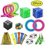 ZCOINS 19er Pack Angst Linderung Zappeln Spielzeug Geigenspielzeug Autismus Sensorisches Spielzeug für Erwachsene und Kinder