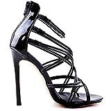 YIBLBOX Damen High Heel Pumps Stiletto Sandalen Party Schuhe Riemchen Abend Sandaletten Schuhe