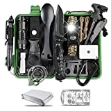 SUPOLOGY Survival Kit, 17 in 1 Emergency Survival Gear with LED Paracord Bracelet Signal Mirror for Camping Fishing Hiking, Cool Gadgets Birthday Gifts for Men Boyfriend Dad 【Upgraded Bigger Case】