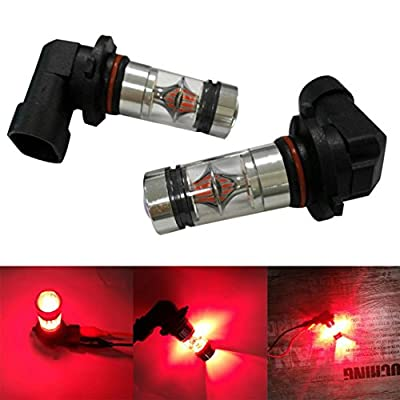 Car Light,Tuscom@ 2X H10 9005 9006 100W 20LED HID 2323 Fog Driving DRL Light Bulbs