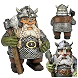 HSD Viking Victor Norse Dwarf GNOME Statue - 2021 Viking Garden GNOME Full Color Decoration, Outdoor GNOME Resin Figurine for Home Yard Decor, Show Your Viking Pride