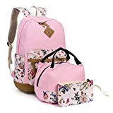 Leaper Floral Backpack for Girls Laptop Backpack School Bag Travel Daypack Bookbag Lunch