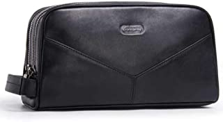 LDUNDUN-BAG, 2019 Leather Clutch Bag Fashion Leather Clutch Bag Multi-Function Wash Bag Men's Handbags (Color : Black, Size : S)