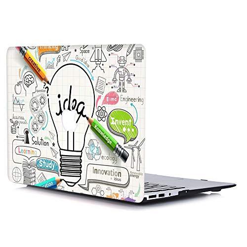 Funda para MacBook Air de 11,6pulgadas, carcasa rígida de plástico duro y tacto suave recubierta de goma mate (Modelo: A1370 A1465), color mármol azul LDL41 Idea Bombilla MacBook Air 13'(A1369/A1466)