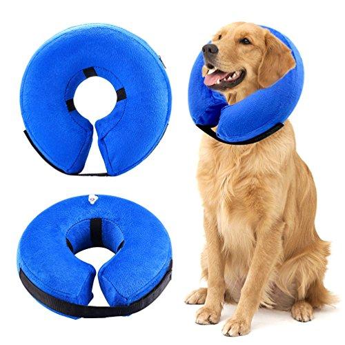 Zunea Aufblasbar Hundehalsband für Hunde und Katzen Halskrause Verstellba Bequem...