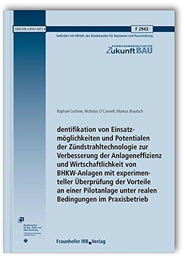 Identifikation von Einsatzmöglichkeiten und Potentialen der Zündstrahltechnologie zur Verbesserung der Anlageneffizienz und Wirtschaftlichkeit von ... (Forschungsinitiative Zukunft Bau)