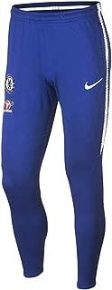 Authentic Men's 2018/19 Chelsea FC Dry Squad Pants Slimfit 914041-496 Blue/White