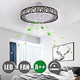 OUJIE Ventilatore da Soffitto A LED con Illuminazione E Telecomando, Ventilatore da Soffitto...