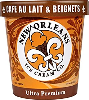 New Orleans Ice Cream Company, Cafe Au Lait & Beignets, Pint (4 Count)