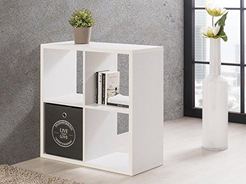 möbelando Regal Würfel Bücherregal Cuberegal Wandregal Regalwürfel Holzregal Mareen II (Weiß)
