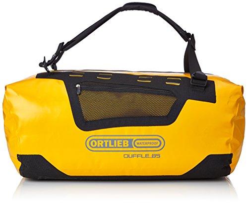 Ortlieb Unisex– Erwachsene Sporttasche Duffle 85, Sun Yellow/Black, One Size