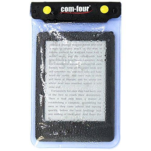 com-four® 2X wasserdichte Schutzhülle - staubdichte Hülle für Tablet und E-Book-Reader - Schutztasche in blau - 8,8