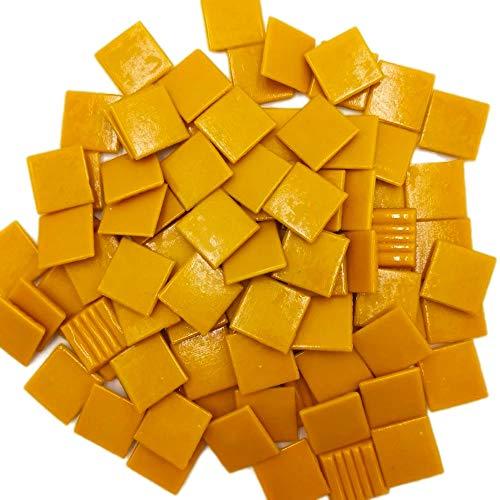 Armena 204130a92 Mosaiksteine zum Basteln Gelb 260g 2x2 cm circa 86 Stück