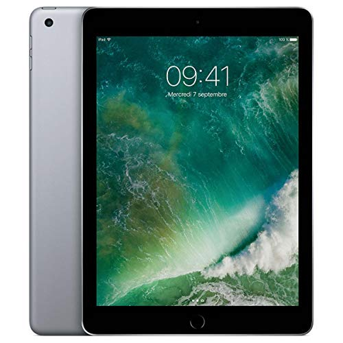 Apple iPad 9.7 (5th Gen) 128GB Wi-Fi - Space Grey (Renewed)
