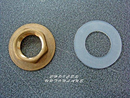 Dado in ottone flangiato dimensioni 1/2' BSP + rondella in plastica gratuita (per lavabo e altri impianti idraulici)