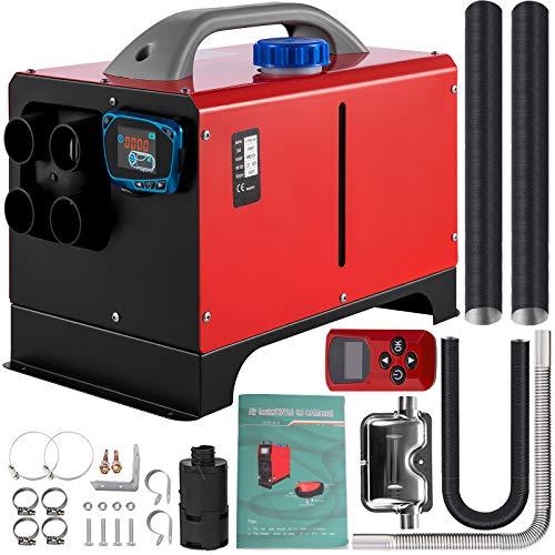 VEVOR Riscaldatore ad Aria Diesel, Riscaldamento da Parcheggio, 12V Riscaldatore all in One (Rosso, 5KW(4 Prese d'Aria))