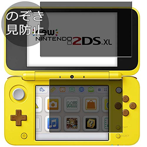 [2 Pack] Synvy Privacy Screen Protector Film for Nintendo New 2DS XL New 2DS LL 0.14mm Anti Spy Protective Protectors [Not Tempered Glass]
