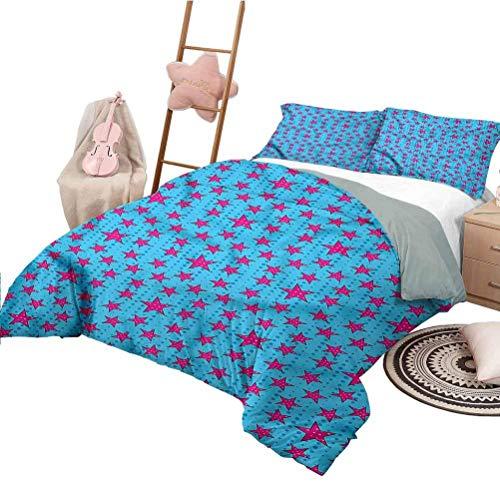 3-teiliges Quilt-Set Retro-Tagesdecke in voller Größe Bettdecke für alle Jahreszeiten im Comic-Stil