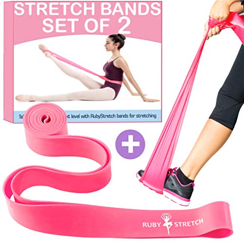 Resistance Stretch Bands for Workout, Exercise and Fitness, Dance Stretch Band for Flexibility Training Set 2 Resistance Bands for Stretching and Physical Therapy