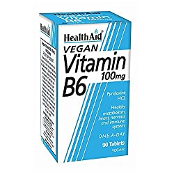 HealthAid Vitamin B6 (Pyridoxine HCl) 100mg - 90 Tablets