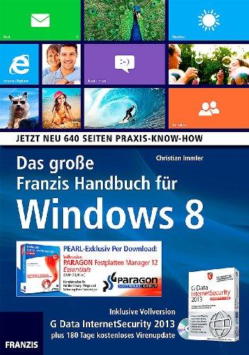Franzis Das große Handbuch für Windows 8 inkl. Festplatten Manager 12